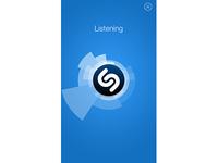Shazam Listening Screen