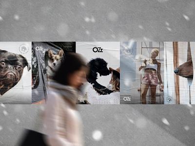 OZz Branding poster branding dog pet ozz