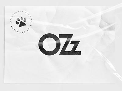 OZz paw stamp logo branding dog pet ozz