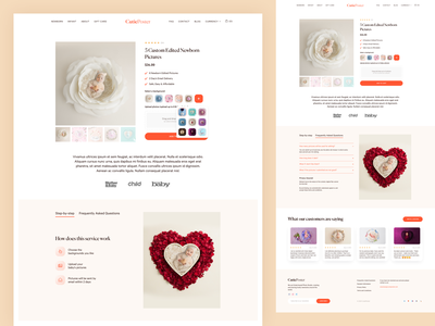 CutiePoster - Product Page web creative concept web design ui design soft clean baby ecommerce design