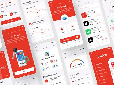 Alfan - UI Preview clean 3d ui influencer social media figma ios app design