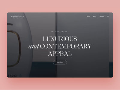 Ecommerce - Landing Exploration minimal typography ecommerce shopify layout concept landing ux web design ui design clean ui design