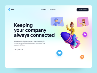 Hyra - Layout Exploration vivid motion company development career social web design ux ui design figma design app illustrations 3d ui design layout exploration