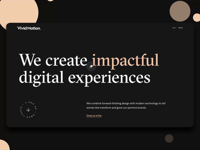 Vivid Motion v2.0 creative ui design typography ux web landing branding web design ui design