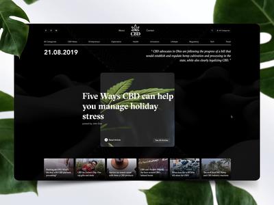 CBD Blog Hub Concept