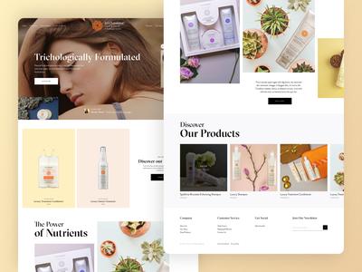 Trichovedic Shopfiy Landing Page