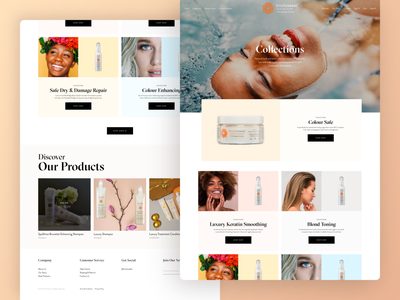 Hair Products Shop: Collections Page clean beauty shop ecommerce typography ux ui web graphic design branding design ui design web design
