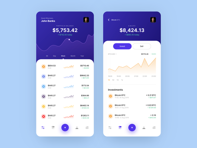 Stabl - Finance & Investments App mobile ios transaction money ux ui design saas mobile banking bank app balance minimal swiftui clean app