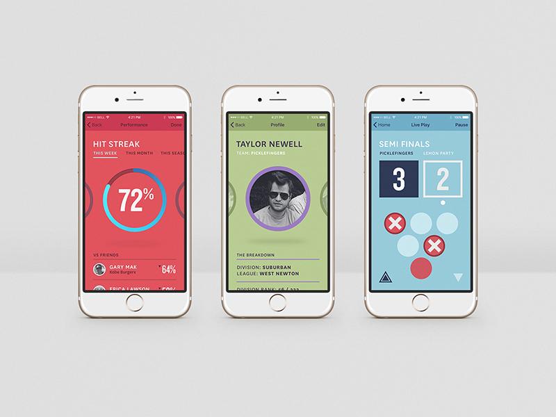 Bitpong App iphone color geometric pong beer ios app