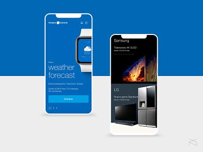 caixabank compra estrella - redesign concept helvetica ecommerce concept webdesign digital web design ux ui
