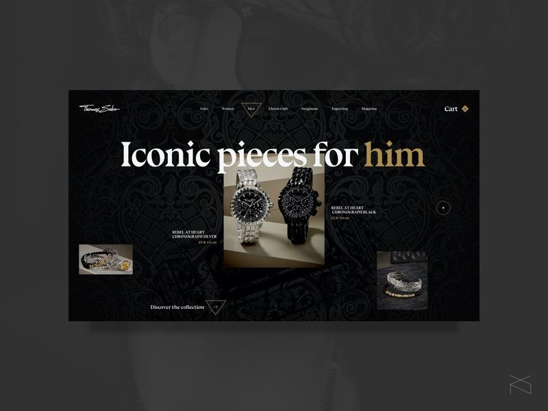 thomas sabo - redesign concept dark jewelry concept creative webdesign web digital ux ui