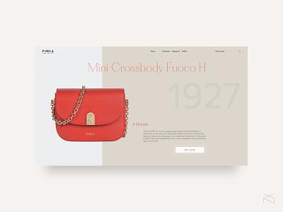furla - product concept page women fashion concept minimalism web design ux ui