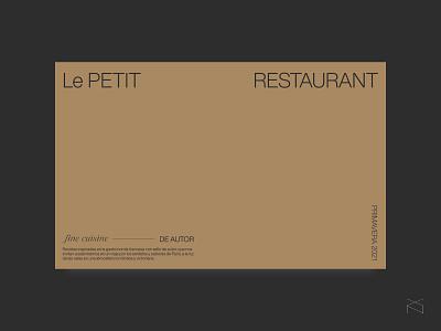le petit restaurant - concept hero header design restaurant minimalism web ux ui