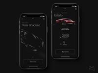 Tesla App - UI Concept