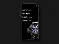 ✍🏼 Krzy & Krtve Creative Agency - UI Concept