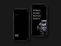 ✍🏼 Krzy & Krtve Creative Agency - UI Concept  3/5