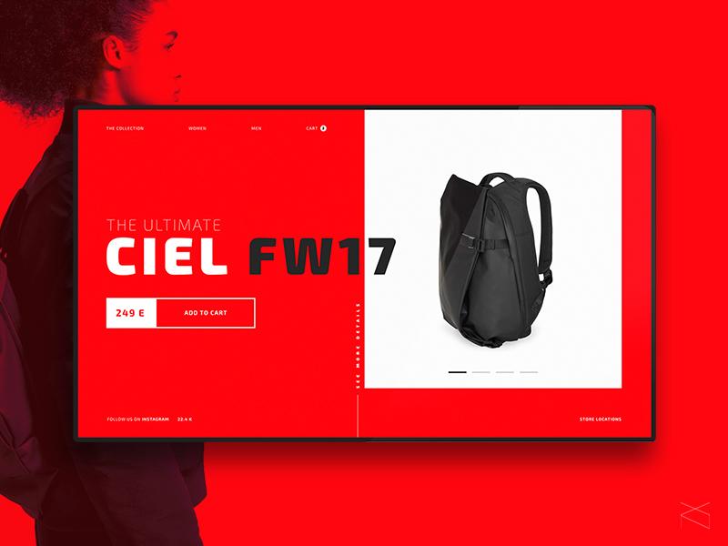 🛍 Bag ecommerce - web design concept ecommerce fashion animation creative minimalism clean webdesign ux ui