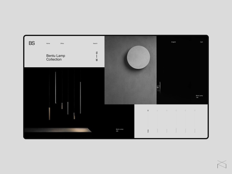 💡Bentu - ecommerce concept furniture ecommerce minimalism clean webdesign web design ux ui