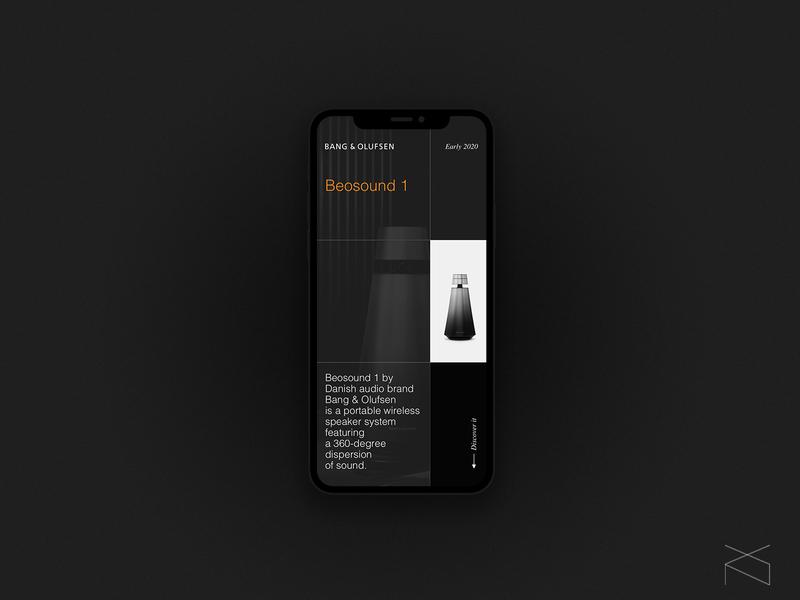 Bang & Olufsen - concept product landing page concept audio music minimalism clean creative digital web design ux ui
