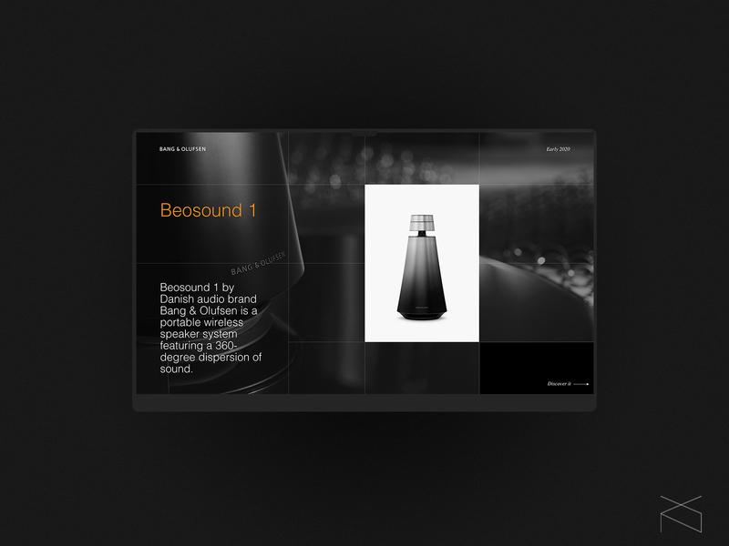 Bang & Olufsen - concept product landing page webdesign music concept minimalism clean creative digital web design ux ui