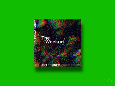 The Weeknd - Blinding Lights music cover design