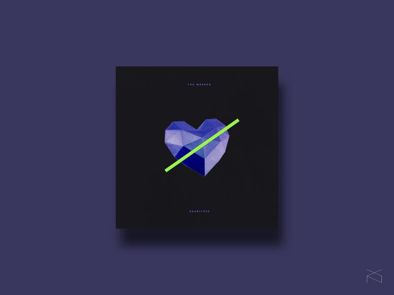 The Weeknd - Heartless music cover design art cover music creative digital design