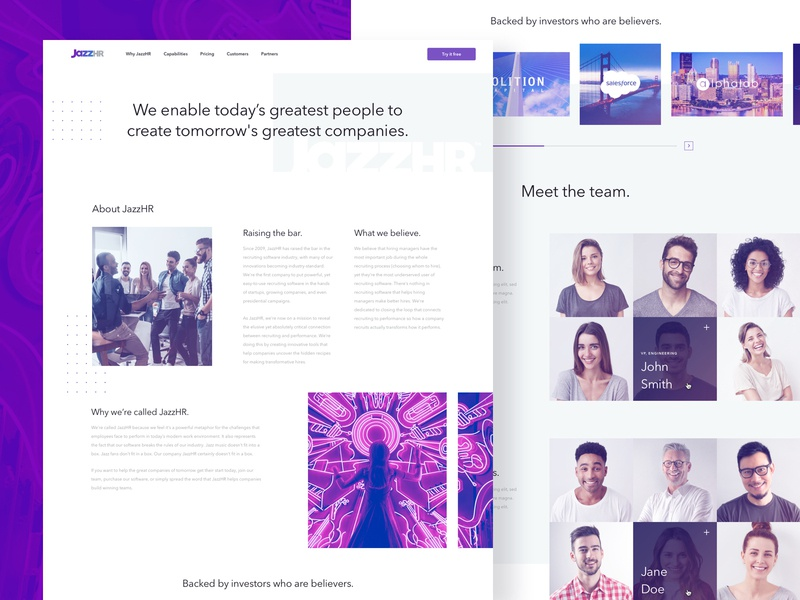 JazzHR - Company website web uiux ui  ux ui saas webdesign web design design