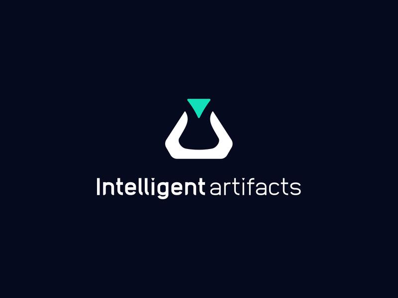 Intelligent Artifacts   Logo startup technology glyph machine learing ai branding logo