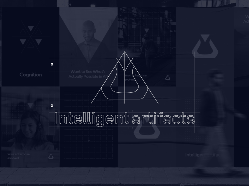 Intelligent Artifacts   Logo Grid machine learning ai geometry technology grid logo grid logodesign logo