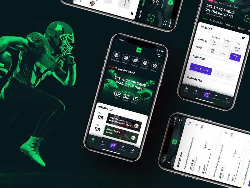 WINNERS   App experience mobile app sports betting sports app ui  ux branding