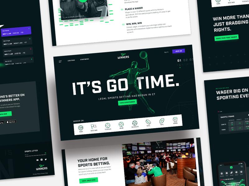 WINNERS   Launch Day Site sports betting branding sports web design