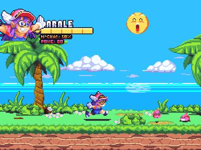 Super Arale World video game pixel art mockup game sprite pixelart pixel fanart character arale