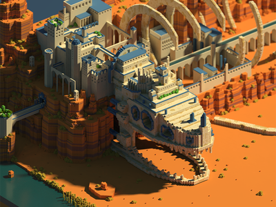 Belly of the beast. voxel art lowpoly magicavoxel voxel isometric 3d