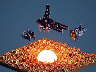 The end of all things. voxel art voxel magicavoxel lowpoly isometric 3d