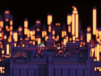 Gotham's Finest batman fanart illustration videogames pixel art voxel art lowpoly voxel magicavoxel isometric 3d