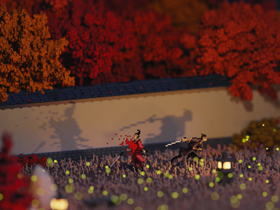 Night japan illustration videogames pixel art voxel art lowpoly voxel magicavoxel isometric 3d