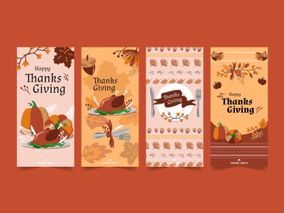 Thanks giving IG stories for Freepik thanksgiving food stories procreate draw freepik vector illustrator design illustration