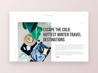 DailyUI 035 - Blog Post