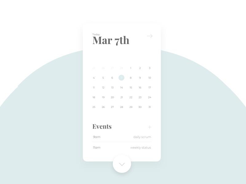 DailyUI 038 - Calendar calendar 2019 calendar design calendar app calendar ui schedule calendar creative app mobile ux design interface ux ui design ui design graphic design dailyui challenge dailyui 038 dailyui 038