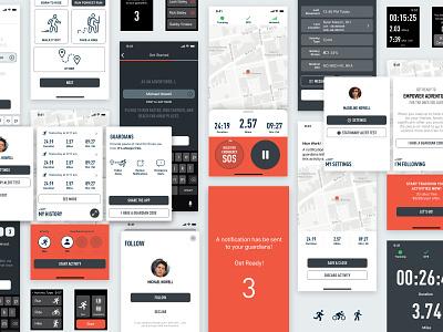 Run Tracker App health fitness design app mobile ui