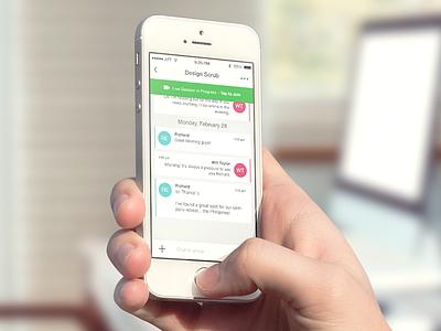 iPhone Discussion App ui ux design creative visual ios app