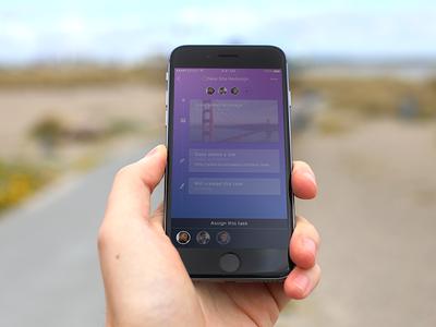 Priorities App - Assigning Tasks ios iphone task management ux ui