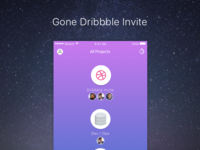 Gone Invites you to Dribbble