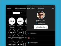 Managing your Profile (Dark UI)