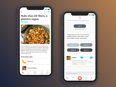Food Recipes & More iphone app food mobile ui ux ios iphone x ios11
