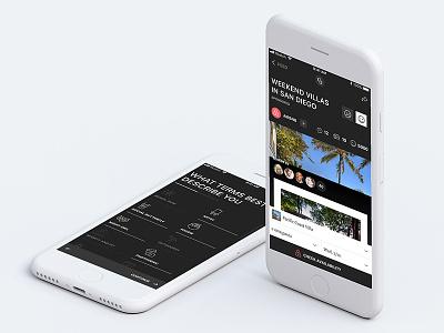 News Social App mobile app apple travel social news dark ui ios iphone