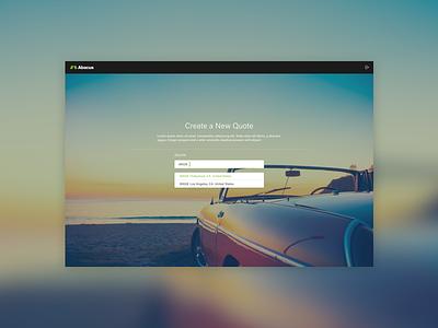 Abacus Insurance - New Quote Landing visual ux ui web ui