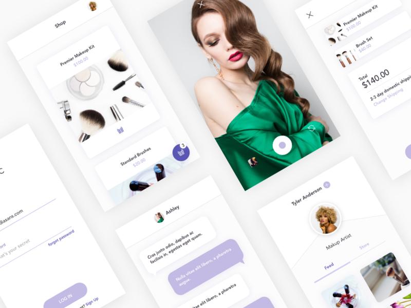 Lilac Studio - Mobile UI Kit responsive android ux ui sketch ios freebie mobile ui kit