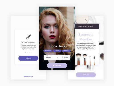 Lilac Studio - Mobile UI Kit - Preview 2 responsive ux ui kit ui sketch mobile ios freebie android