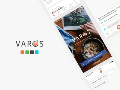 Varos - Nutritional Mobile App iphonex iphone android branding creative ux ui ios mobile nutrition